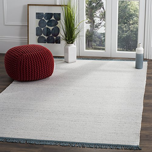 (Safavieh Kilim Collection KLM110A Hand-Woven Ivory and Grey Area Rug (8' x)
