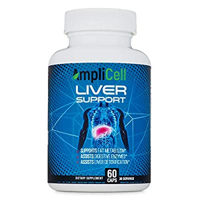 Amplicell Liver Cleanse | Liver Support Supplement, Detox and Repair Formula | with Zinc, Milk Thistle, Beetroot, Artichoke and Dandelion | Natural Herbal Supplements | 60 Vegetarian Capsules