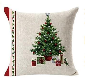 XPartner creative Christmas lino federa divano cuscino di Natale decorazione domestica, F, 45 * 45cm