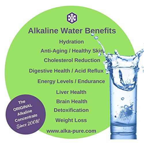 The Original Alkaline Water and Electrolyte Concentrate by Alka-Pure | 9.5+ pH Filtered Water | Sugar Free | 60 Pack | 30 Day Supply by Alka-pure GoPak (Image #1)