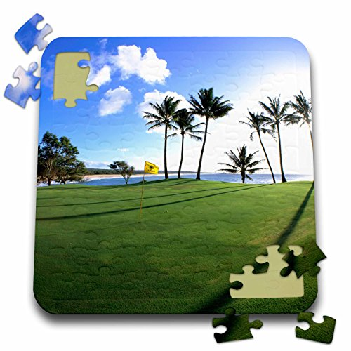 Danita Delimont - Golfing - Kaluakoi Golf Course, Molokai, Hawaii - US12 DPB0082 - Douglas Peebles - 10x10 Inch Puzzle (pzl_89529_2) (Golf Shores Course)