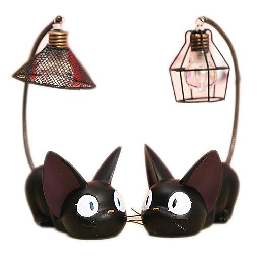 Amazon.com: SCAU 2 piezas de lámpara de resina negra con ...