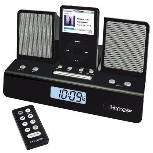 - Ihome Alarm Clock For Ipod Black