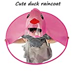 Outtop(TM) Creative Novelty Duck Rubber Waterproof Umbrella UFO Children Raincoat Hat Magical Hands Free Poncho Cloak