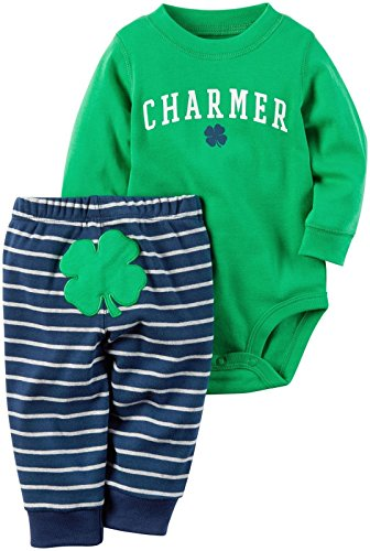 Carter's Baby Boys' 2 Pc Sets 119g169, Green, 6M (St Patricks Day Baby Clothes)