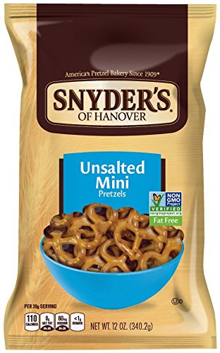 Pretzel Shape (Snyder's of Hanover Pretzels, Mini Pretzels Unsalted, 12 Ounce (Pack of 12))
