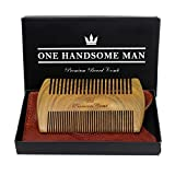 The Ultimate Beard Comb - Quality Sandalwood Beard Comb with Gift Box and Luxurious PU Leather Travel Case - Gift For Him - Regalos Para Hombre - Regalos Para Papa