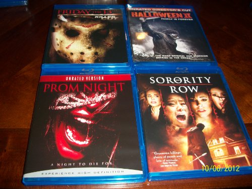 Friday the 13th Killer Cut, Halloween 2 Unrated Director's Cut, Prom Night Unrated Version, Sorority Row -