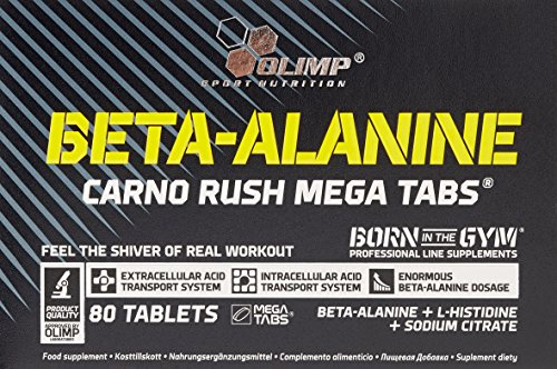 Olimp Beta-Alanine Carno Rush 80 Tabletten, 1er Pack (1 x 138 g)