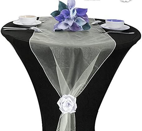 Pack of 40,Champagne Elina Home Satin 6 x 108 Chair Bow Sash Wedding Banquet Kitchen Decoration