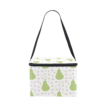e49019677315 Amazon.com: DEZIRO Hand Drawing Green Pear kids lunch box Cooler Bag ...