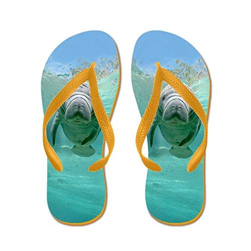 Cafepress Baby Lamantijnen Voor Flip Flops - Flip Flops, Grappige Thong Sandalen, Strand Sandalen Oranje