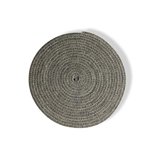 High Temp Grill Gasket Big Green Egg Accessories Replacement High Heat Felt BBQ Smoker Gasket Adhesive Pre-Shrunk Self Stick Felt 15ft Long, 1.14