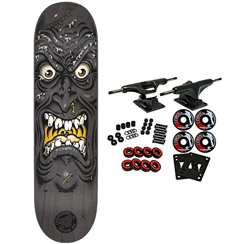 SANTA CRUZ Skateboard Complete ROB FACE BLACK 8.5″