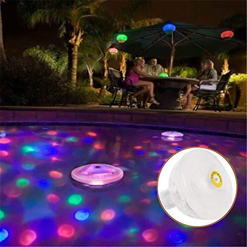 shengyuze Outdoor Lights, Floating Swimming Pool Light Underwater LED Waterproof Foundation Bathtub Bulb - Multicolor