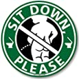 メイヴルアットホーム 座りション トイレステッカー 立たないでジョ~!! トイレ ステッカー 立ちション禁止 座って 座る マナー シール 掃除(小便小僧/グリーン)