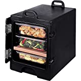 Cambro 300MPC-110 Camcarriers Polyethylene Insulated Front Load Food Pan Carrier Cart, Black