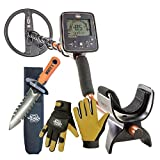Whites TreasurePro Metal Detector with 10'' DD Coil, DigMaster Tool and Gloves