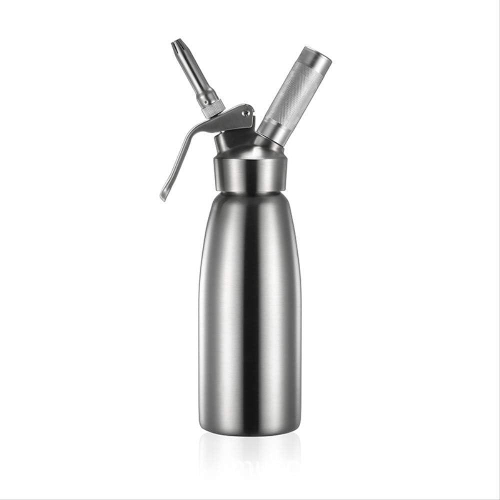 Sifon Cocina Espumas Espuma de pistola de mantequilla de acero inoxidable helado de nitrógeno líquido montaje de café espumoso 500 ml
