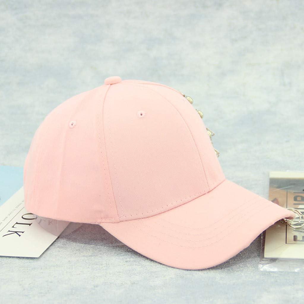 YunZyun Baseball Cap Fit Men Women Unisex Casual Solid Adjustable Iron Ring Caps Snapback Casquette Mens Womens