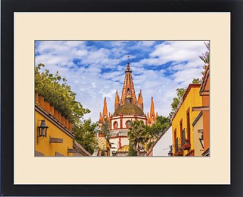 Framed Print of Aldama Street Parroquia Archangel church Dome Steeple San Miguel de Allende by Fine Art Storehouse