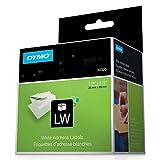 Dymo Lw Address Labels, Black On White, 1 1/8'' X 3 1/2''