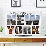 LCD TV dust Cover,NYC Decor,New York City Themed Collage Featuring with Different Areas of The Big Apple Manhattan Scenery,Multi,3D Print Design Compatible 70'' TV