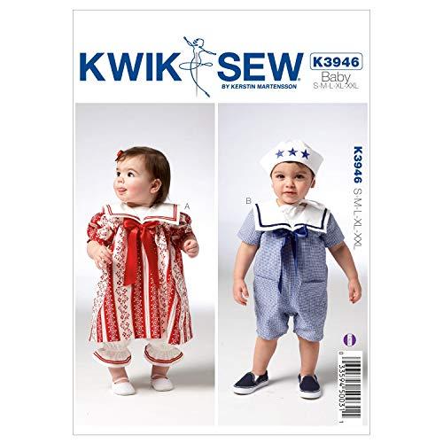 (Kwik Sew K3946 Babys Bloomer Sewing Pattern, Dress)