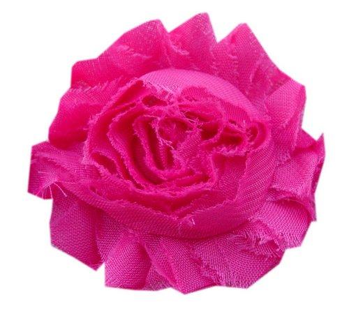 POSHNPRETTY BULK SOLID shabby frayed Chiffon Flowers 7 yards appx 100 flowers - ()