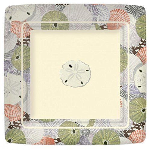 (Entertaining with Linnea Dinner Plates Sea Shells, 8 Pack 10 inches)