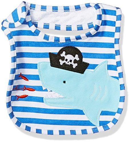 (Mud Pie Baby Boys' Applique Bib, Pirate Shark, One Size)