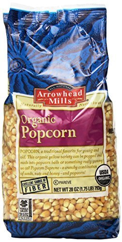 Arrowhead Mills Organic Yellow Popcorn, 28 Ounce (Pack of 6) by Arrowhead Mills