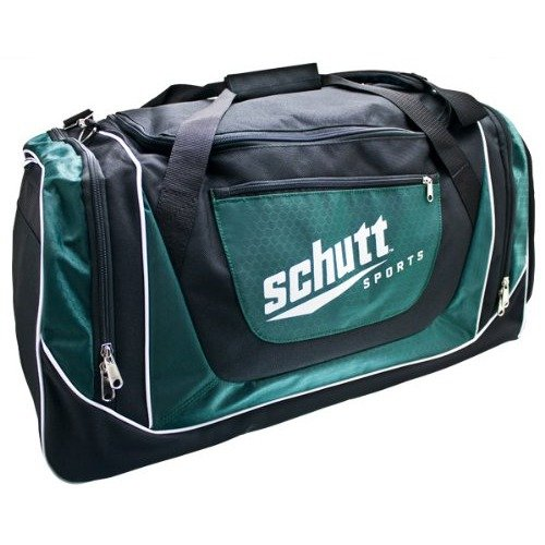 Schutt Varsity Individual Player Bag, Black/Dark Green