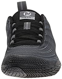 Merrell Women\'s Vapor Glove 2 Trail Running Shoe, Black/Castle Rock, 8.5 M US