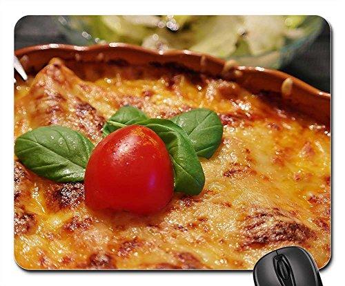 Mouse Pads - Lasagna Noodles Cheese Tomatoes Baking Dish