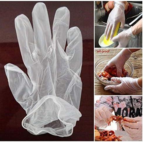 100(1つのカートリッジ)ビニル(NOパウダーフリーラテックス)手袋透明な使い捨て手袋、作業手袋使い捨て食品加工 (Size : L)