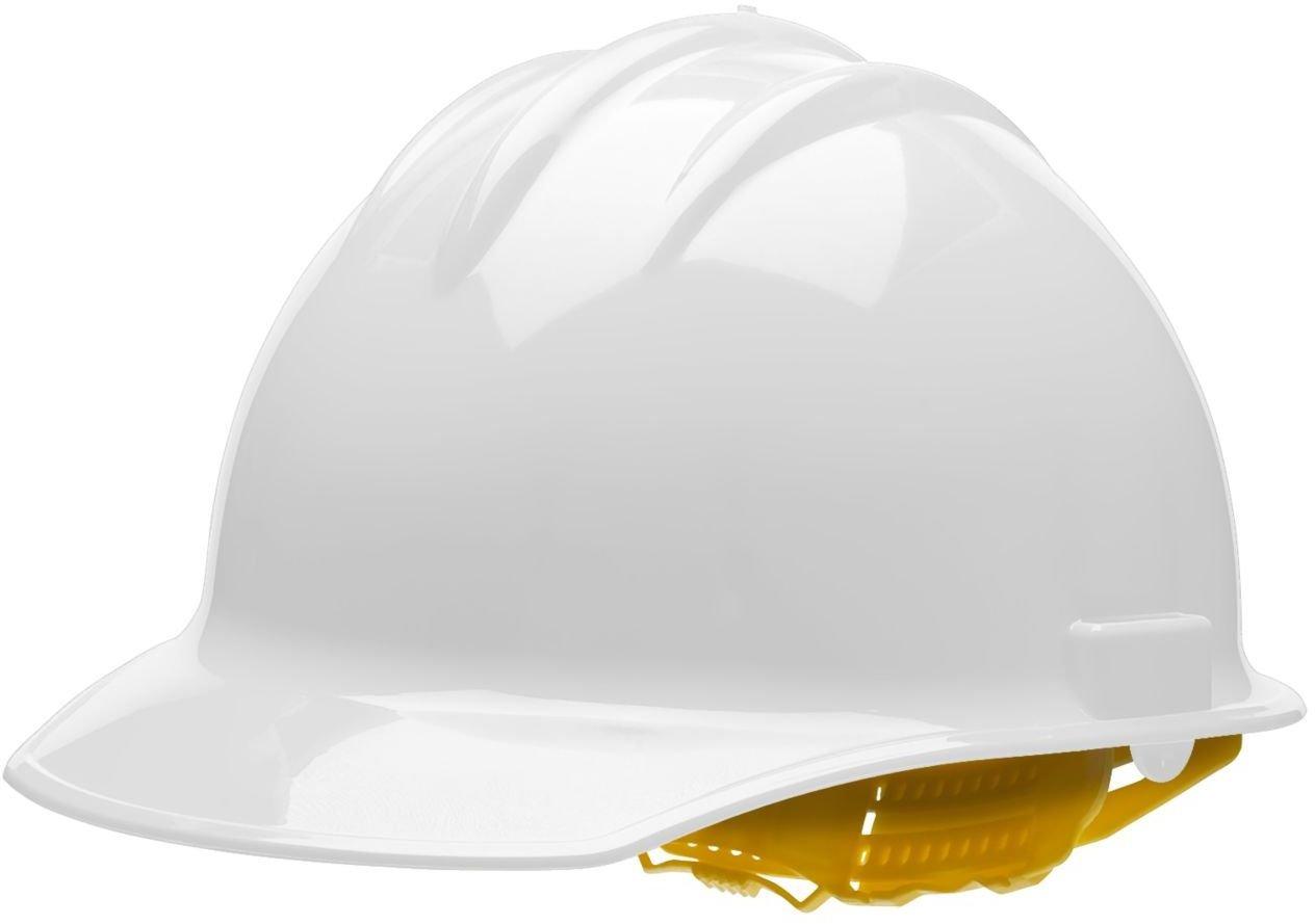 Bullard White HDPE Cap Style Hard Hat with 6 Point