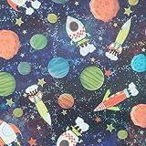 Galactic Fun Gift Wrap Flat Sheet - 24in x 6ft