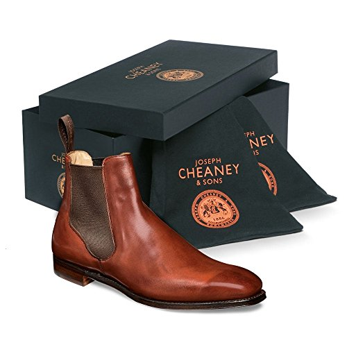 Chelsea Calf in Joseph Boot Cheaney Harlestone amp; Dark Dandy Dark Burnished leaf Sons Leaf Leather qXwTP