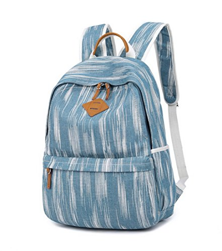 "Acmebon Unisex Vintage Canvas Backpack with USB Charge Port Fashion 15.6"" Laptop Rucksack Retro Blue by Acmebon (Image #1)"