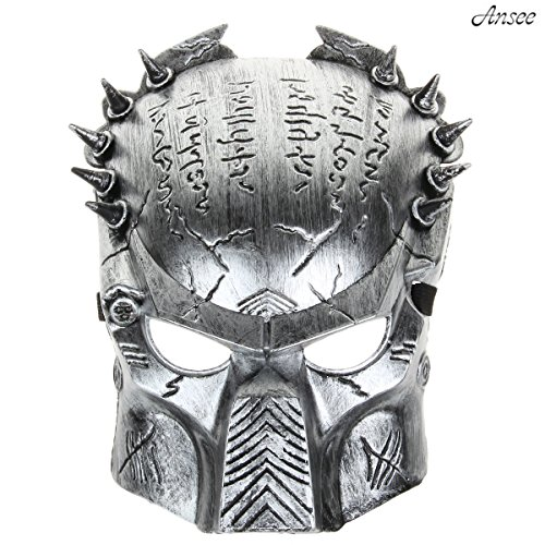 Cool Predator Mask for Halloween Masquerade Cosplay - Silver Gray]()