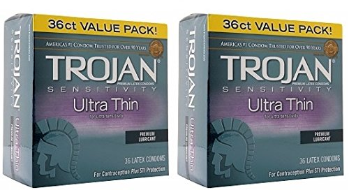 Trojan Ultra Thin Condom 36ct (2 pack)