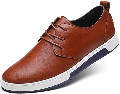 Business up Leather British Casual Mens PPXID Yellow Lace Style Shoes R1wYxpP6qP