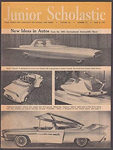 JUNIOR SCHOLASTIC International Auto Show Gyron Levacar Turboflite ++ 5/3 1961 (Junior Scholastic)