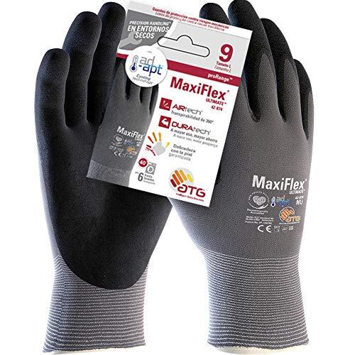 ATG 42-874 MaxiFlex/® UltimateTM Gants avec technologie Ad-Apt Gris//Noir Taille 12