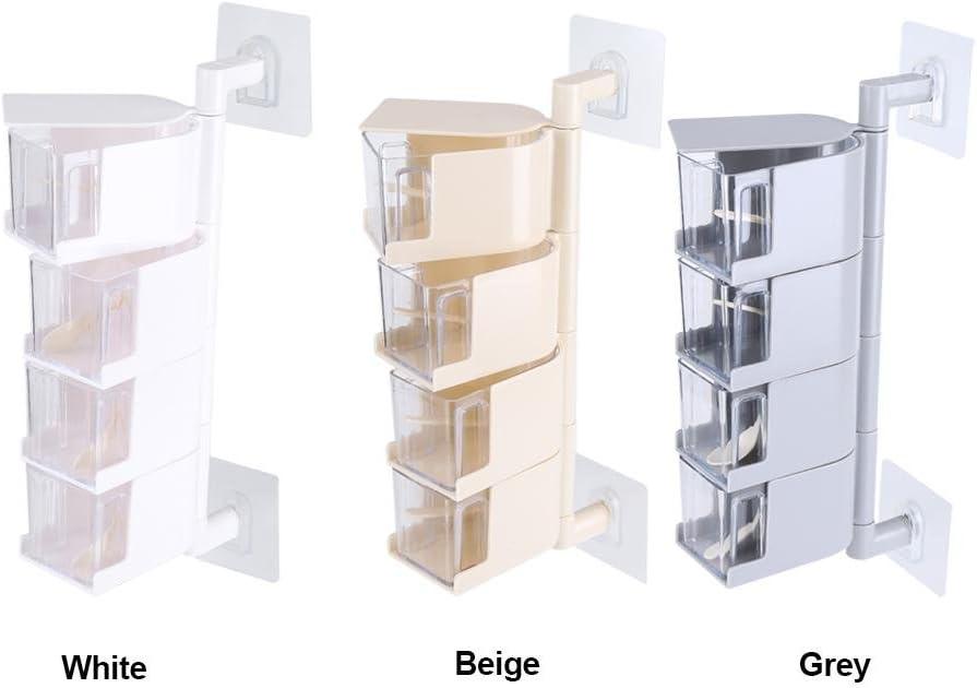 NZHK Cristal Rotatif Assaisonnement Bo/îte Verticale Multi-Couche Assaisonnement Jars Accueil Spice Racks Rotating Assaisonnement Box,Bleu,A