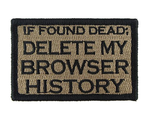 Browser History Embroidered Morale Tags