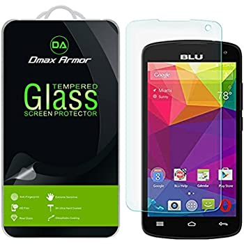 [2-Pack] Dmax Armor- BLU Studio X8 HD (5.0 inch) [Tempered Glass] Screen Protector with Lifetime Replacement Warranty