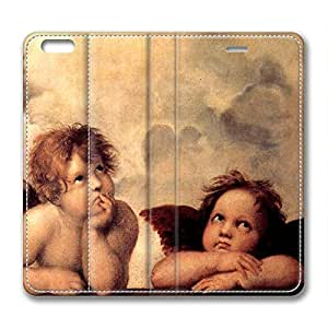 Angel Baby DIY Leather iphone 6 Case Perfect By Custom Service