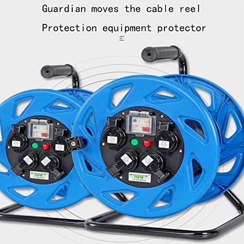 LIFEIYAN Retractable Extension Cord Reel Upgrade Cable Reel Extension Lead With Handle 50M 13A 220V Plug Socket Extension Reel With Thermal Cut Out And Power Switch extension cord holder